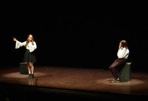 Les élèves du groupe « espoirs » en scène.